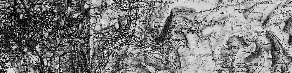Old map of Alphin in 1896