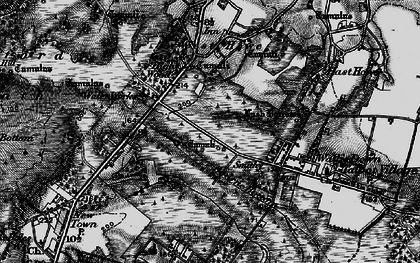 Old map of Turbary Common in 1895