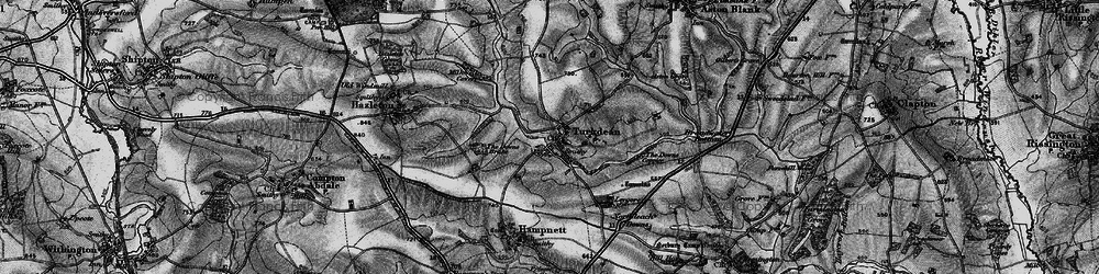 Old map of Leygore Manor in 1896