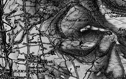 Old map of Whittle Hill in 1896