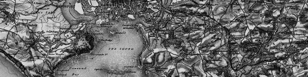 Old map of Turnchapel in 1896