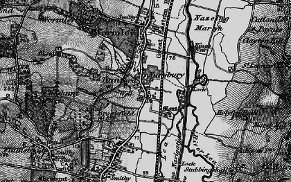 Old map of Turnford in 1896