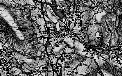Old map of Turton Bottoms in 1896