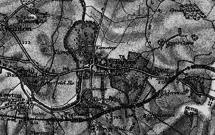 Old map of Turvey in 1896