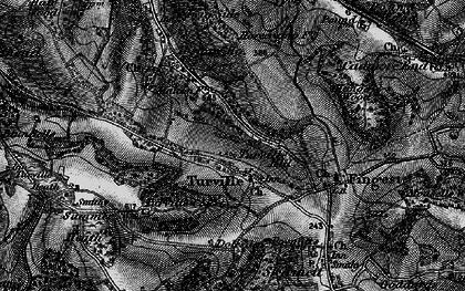 Old map of Ashfield Barn in 1895