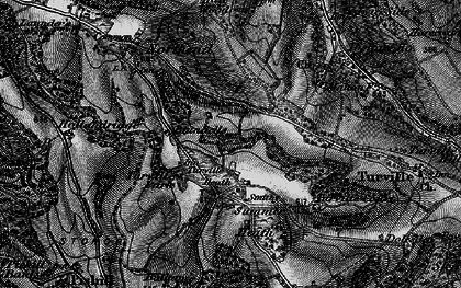 Old map of Turville Heath in 1895