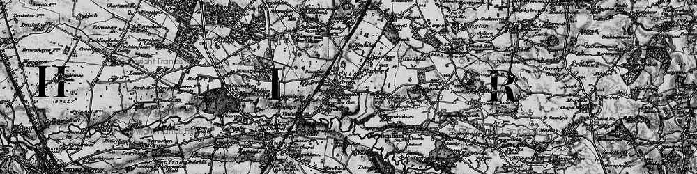 Old map of Twemlow Green in 1896
