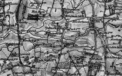 Old map of Lanehurst in 1895