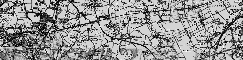 Old map of Twiss Green in 1896