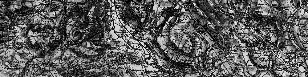 Old map of Two Dales in 1897