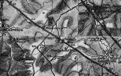Old map of Two Mile Ash in 1896
