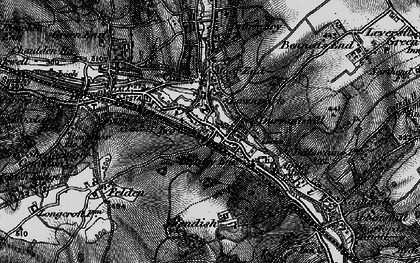 Old map of Two Waters in 1896