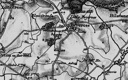 Old map of Twycross in 1899