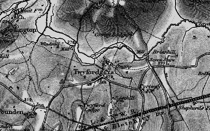 Old map of Twyford in 1896