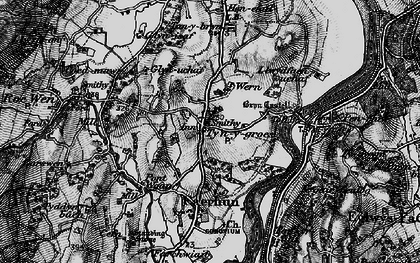 Old map of Afon Roe in 1899