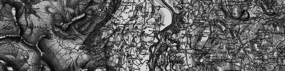Old map of Ty'n-y-groes in 1899