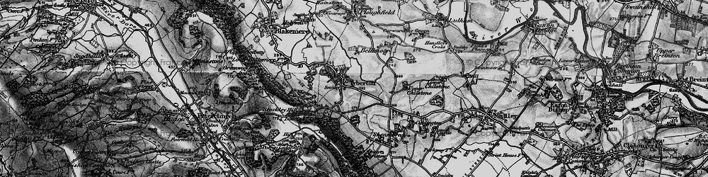 Old map of Tyberton in 1898