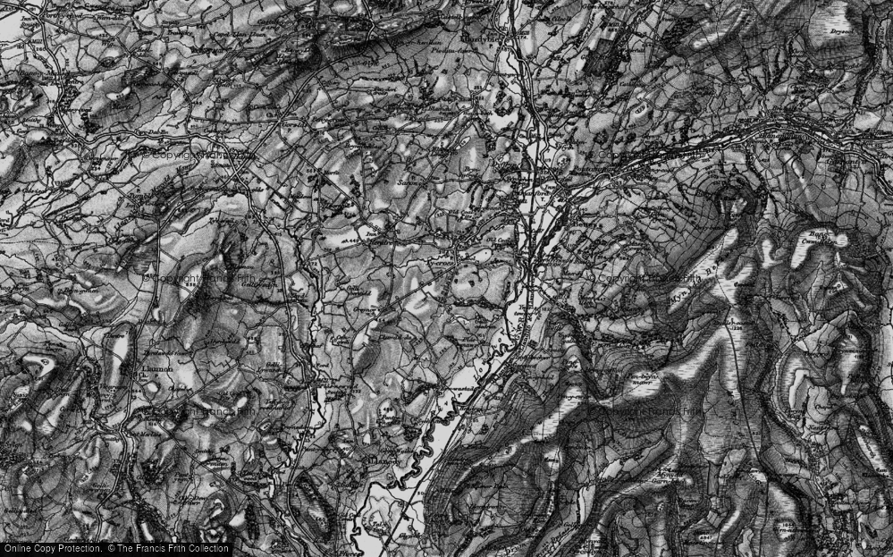Old Map of Tycroes, 1897 in 1897