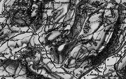 Old map of Wigdawr in 1899