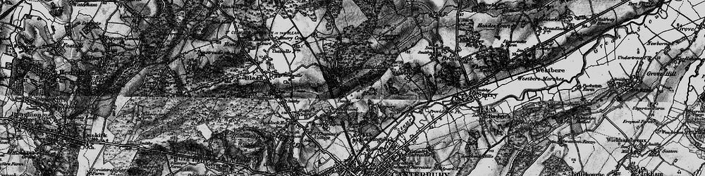 Old map of Allcroft Grange in 1895