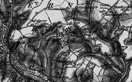 Old map of Tyler's Hill in 1896