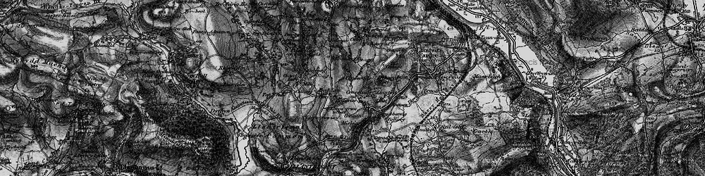 Old map of Tynant in 1897