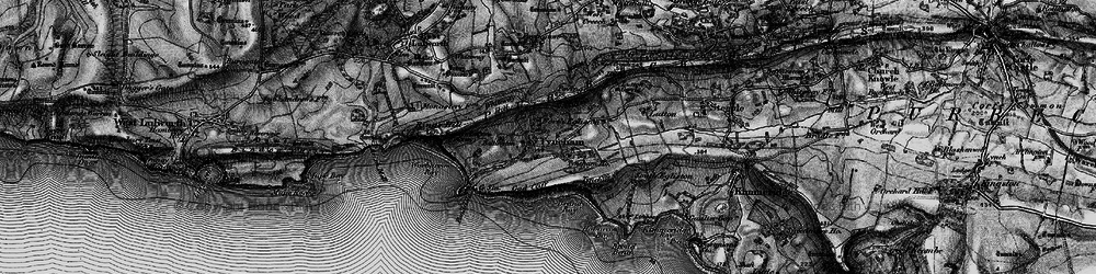 Old map of Tyneham in 1897