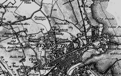 Old map of Tynemouth in 1897