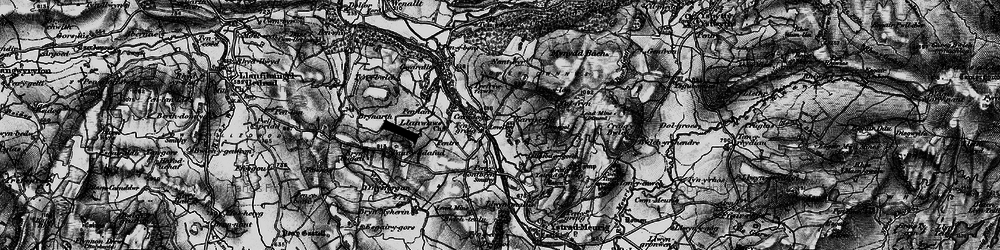 Old map of Ynys-Morgan in 1898