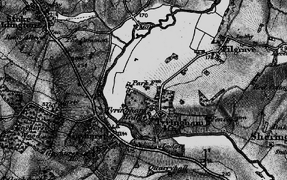 Old map of Tyringham in 1896