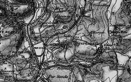 Old map of Tywardreath in 1895