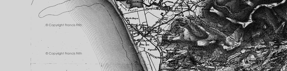 Old map of Tywyn in 1899