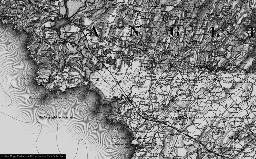 Old Map of Historic Map covering Afon Crigyll in 1899