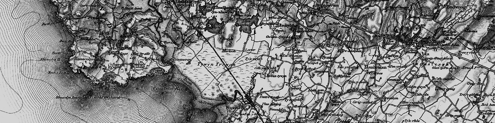 Old map of Afon Crigyll in 1899