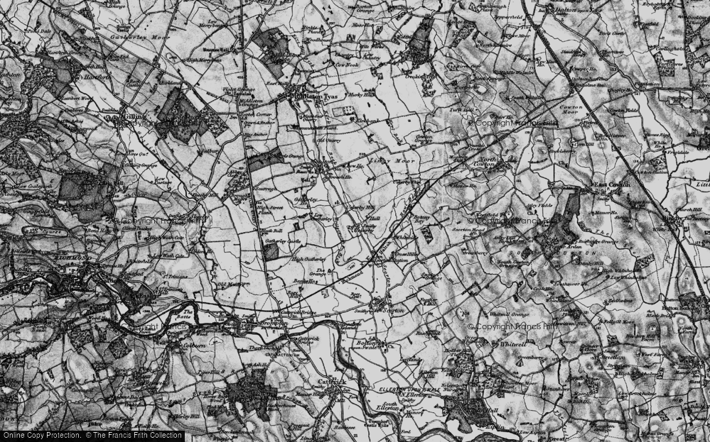 Old Map of Historic Map covering Lingy Moor in 1897