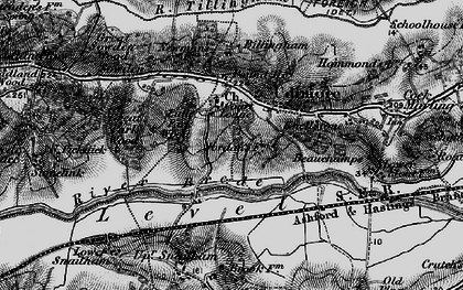 Old map of Udimore in 1895