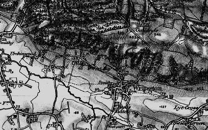 Old map of Wrington Hill in 1898