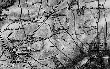 Old map of Barbury Hill in 1898