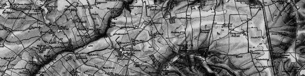 Old map of Wroughton Airfield in 1898