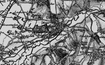 Old map of Uffculme in 1898