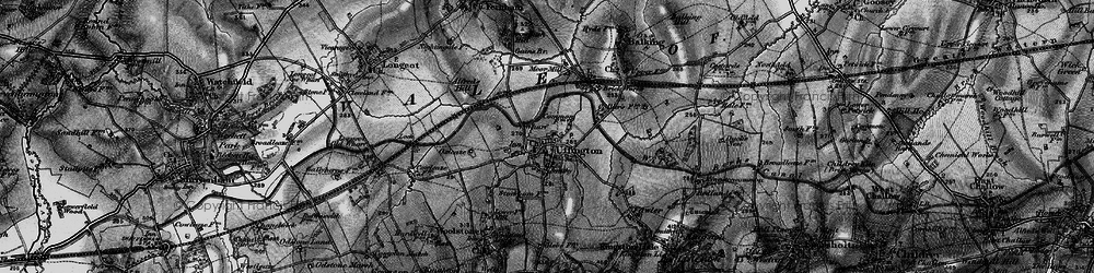 Old map of Uffington in 1895