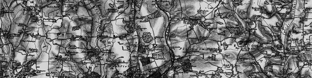 Old map of Alsa Lodge in 1895