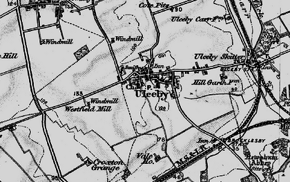Old map of Ulceby in 1895