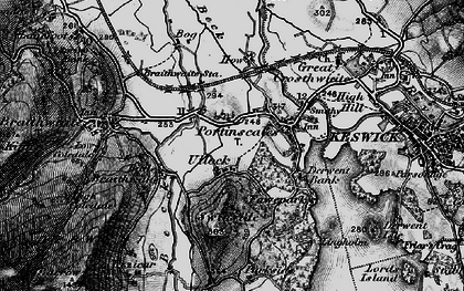 Old map of Ullock in 1897