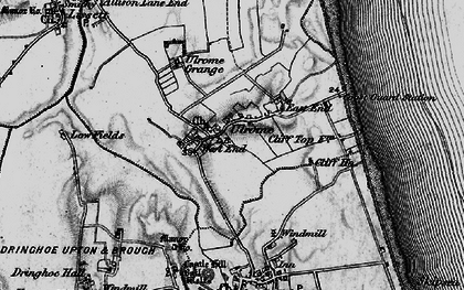 Old map of Ulrome in 1897