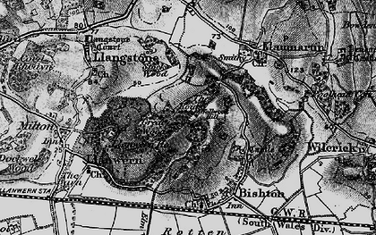 Old map of Underwood in 1897