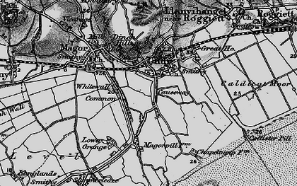 Old map of Undy in 1897