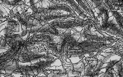 Old map of United Downs in 1895