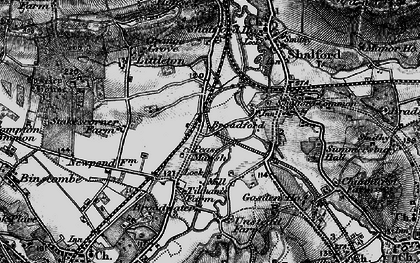 Old map of Unstead in 1896
