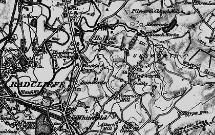 Old map of Thurston Fold in 1896